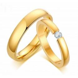 Alianzas de matrimonio doradas