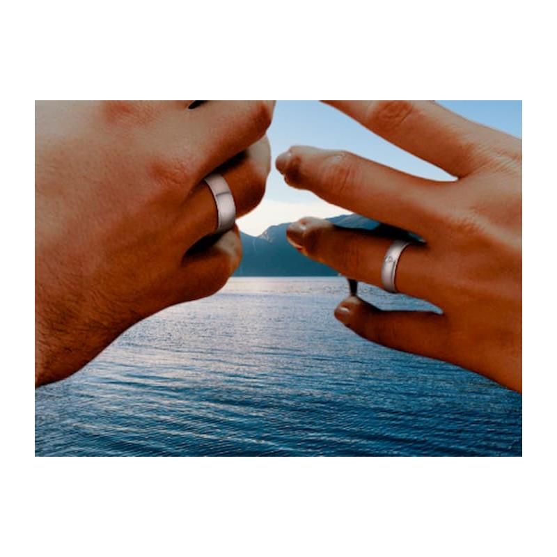 Conjunto anillos de novios