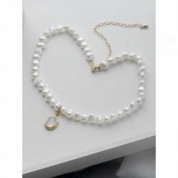 Gargantilla con perlas y piedra lunar