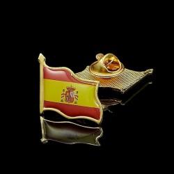 Pin de acero esmaltado bandera española