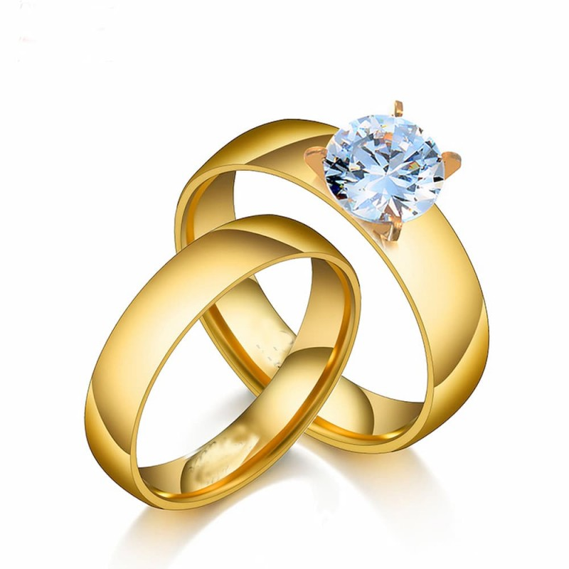 Alianzas doradas de boda