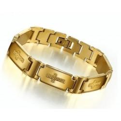 Pulsera de acero bañada en oro