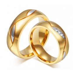 anillos de promesa acabado oro con circonias