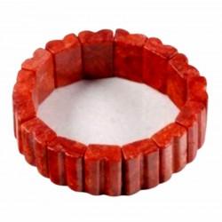 Pulsera italiana de coral rojo natural