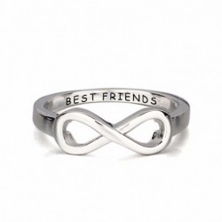 Alianza personalizada mejores amigas de plata