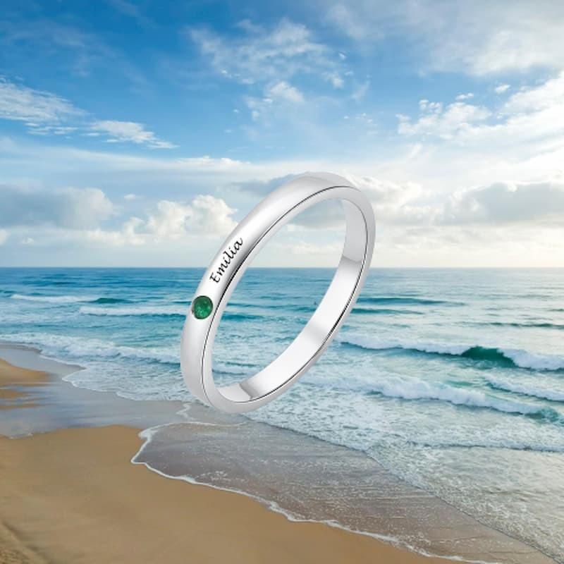 anillo ancho plata mujer