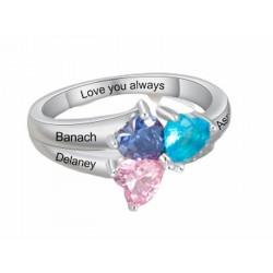 anillos chapados plateados