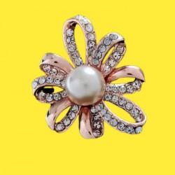 Broche con perla- Flower