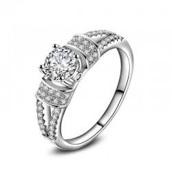 Anillo de boda con diamantes