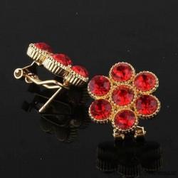 Pendientes rojo rubí