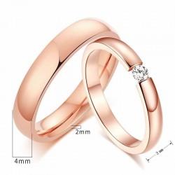 anillos de boda oro rosa