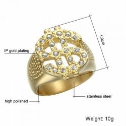 anillos dorado dolar