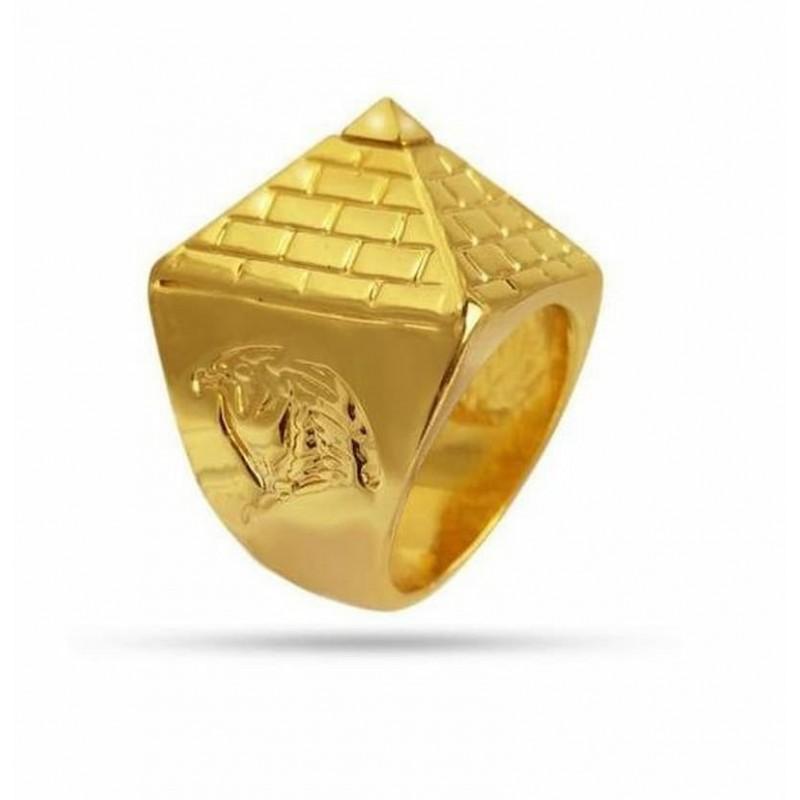 Anillo pirámide egipcia
