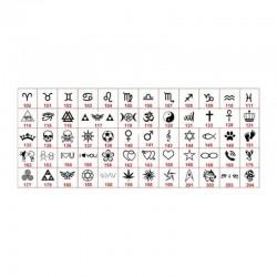 símbolos para grabar en pulseras