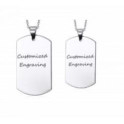 collar medallón con nombres  personalizados