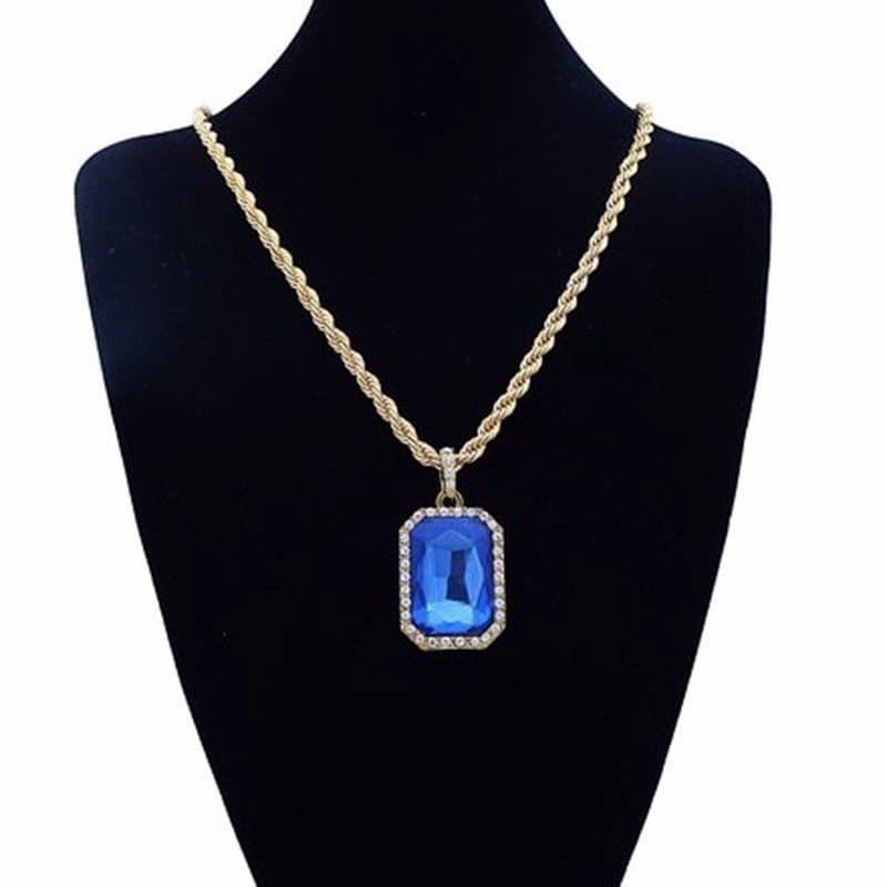 Collares con piedras azules