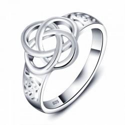 bisuteria anillo celta plata