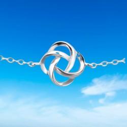 pulsera plata mujer