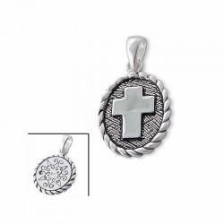 colgante de plata 925 con cruz