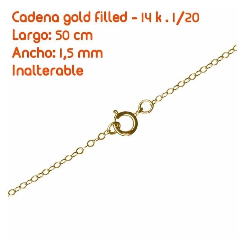 Cadena  fígaro gold filled 18k - 60cm