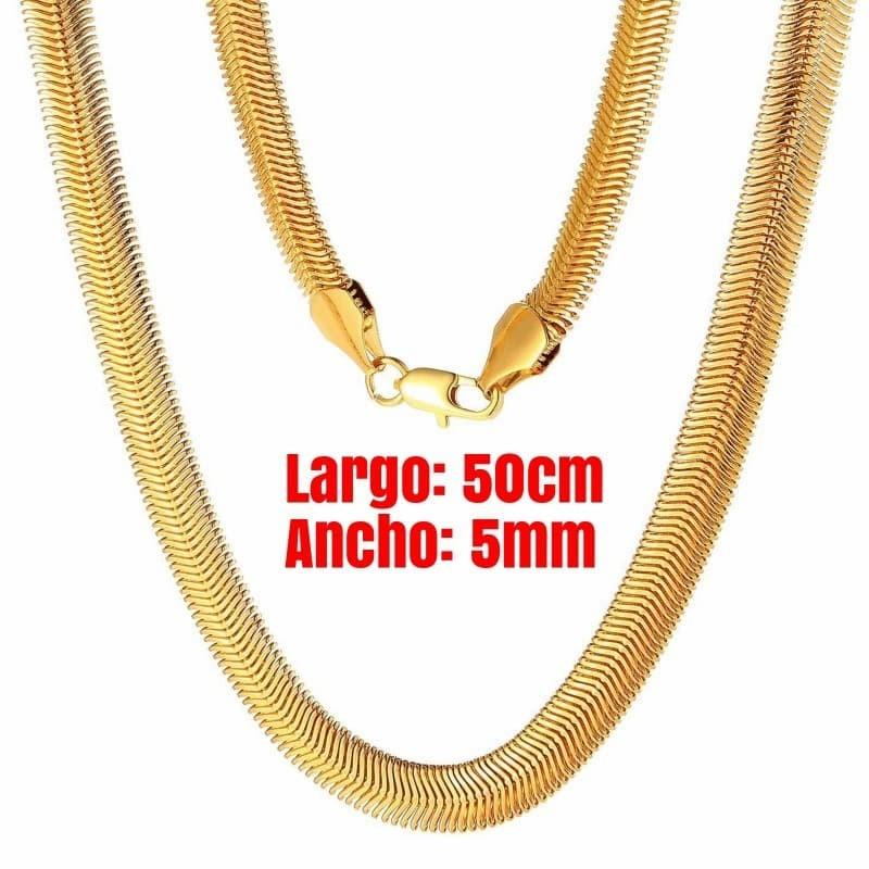 collar de cadena serpiente