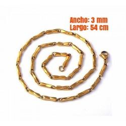 Cadena chapada oro 14 k