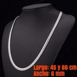collar cadena mujer plateado