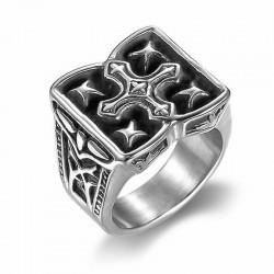 anillo cruz gotica