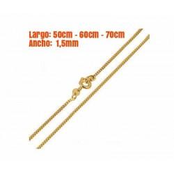 Cadena cuadrada chapada en oro