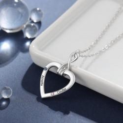 collares de plata con piedras