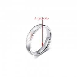 anillo de hombre de acero inoxidable original