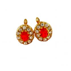 pendientes con piedras anaranjadas