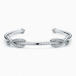 pulsera de plata y diamantes