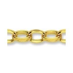 Cadena de oro 9k Belcher de 60cm