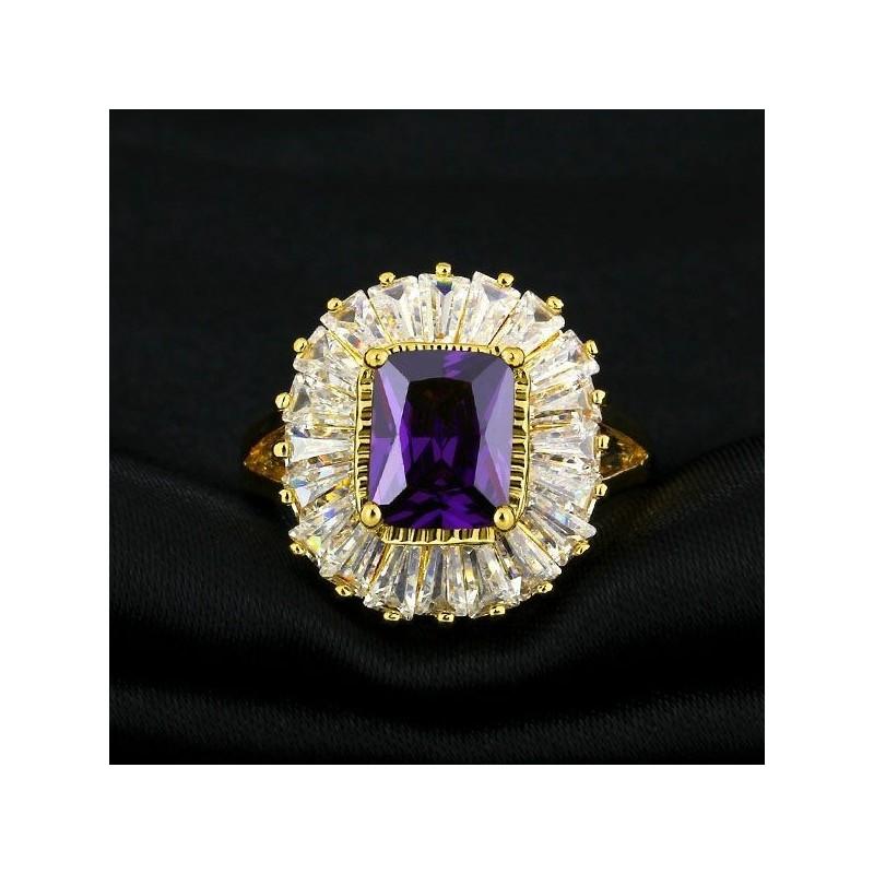 alianzas de compromiso con piedra color púrpura