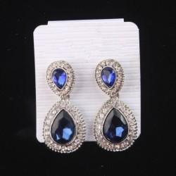 Pendientes colgantes con cristal azul
