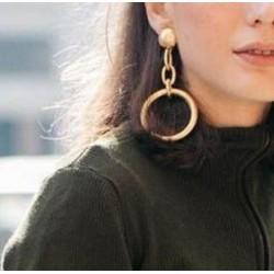 Pendientes colgantes dorados para mujer