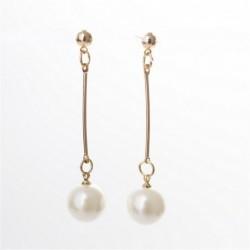 Pendientes largos con perlas