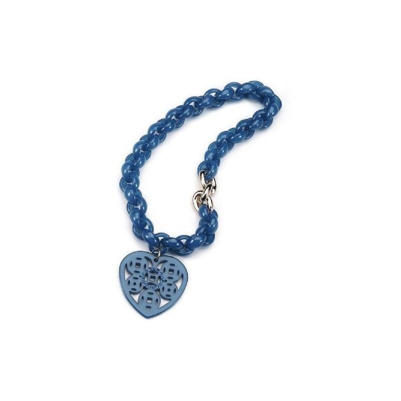Collar de acrílico azul para mujer