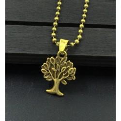 Collar para mujer con árbol de la vida en bronce envejecido