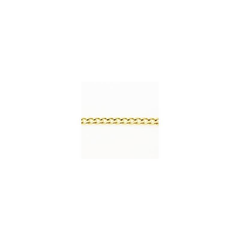 Cadena de oro 9 k-barbada