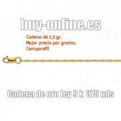 Cadena de oro 9k de 45 cm