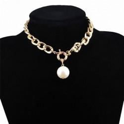 Collar cadena con colgante perla para mujer