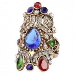 Anillo vintage con piedras de colores - Talla 17