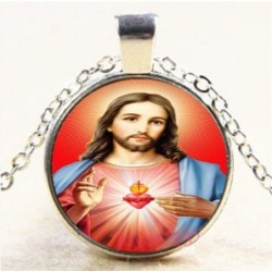Collar cabujon imagen Sagrado Corazón