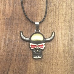 Collar skull color bronce