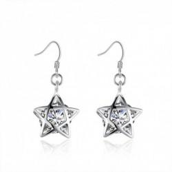Pendientes estrella con cristal