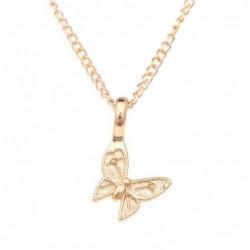 Collar dorado con colgante pequeña mariposa