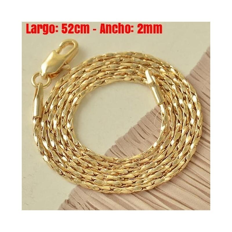 Cadena gold filled de 9k - 2mm