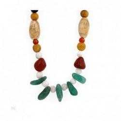 Collar con piedras preciosas de colores